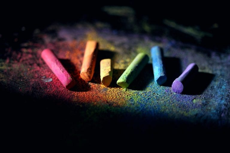 chalk, colorful, dust